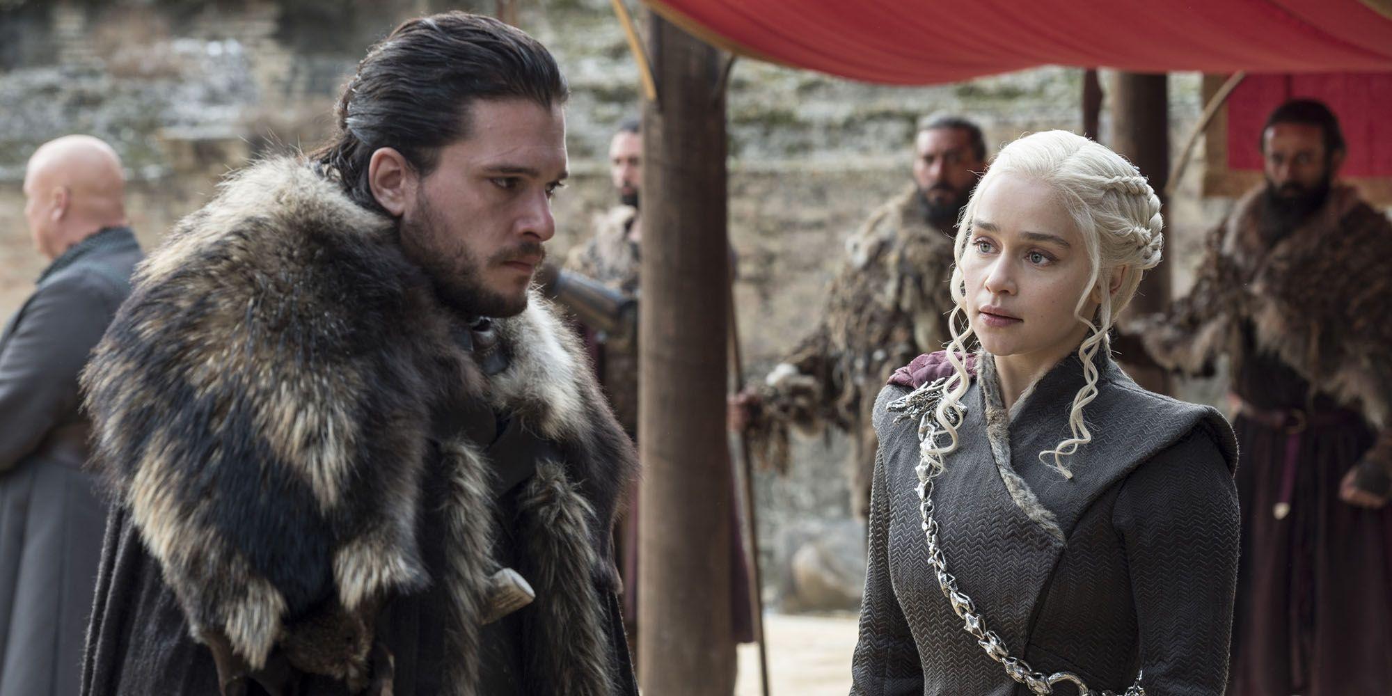 game of thrones, jon snow, daenerys targaryen