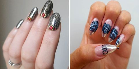Game Of Thrones Nail Art - Nail Designs Inspired By Game of Thrones ...