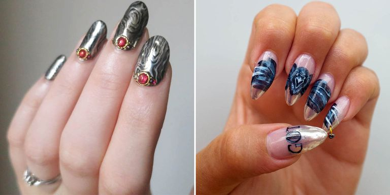Game of thrones nail art nail designs inspired by game of we tapped five instagram nail artists to dream up the ultimate game of thrones manicure prinsesfo Image collections