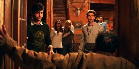 CABIN FEVER, from left: Matthew Daddario, Nadine Crocker, Gage Golightly, Samuel Davis, Dustin