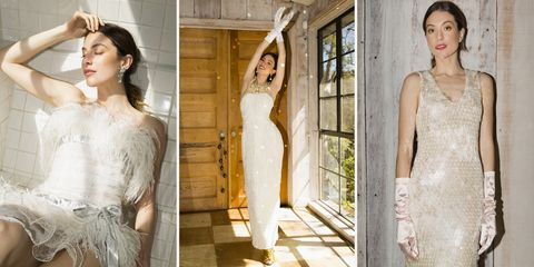 Clothing, Wedding dress, Dress, Photograph, Gown, Shoulder, Bridal clothing, Fashion model, Fashion, Fashion design,