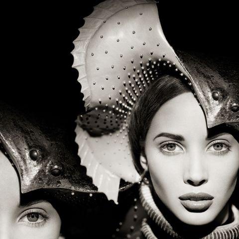 Beauty, Eye, Lip, Black-and-white, Fashion, Monochrome, Photography, Headgear, Eyelash, Stock photography,