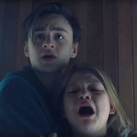the lodge, from left jaeden martell, lia mchugh, 2019 © neon  courtesy everett collection