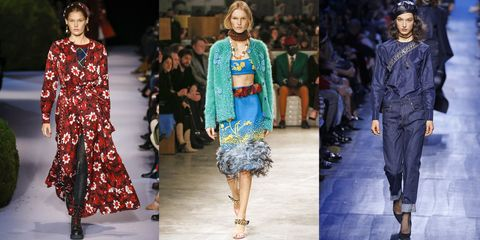 Fashion model, Fashion, Clothing, Fashion show, Runway, Blue, Electric blue, Denim, Street fashion, Dress,