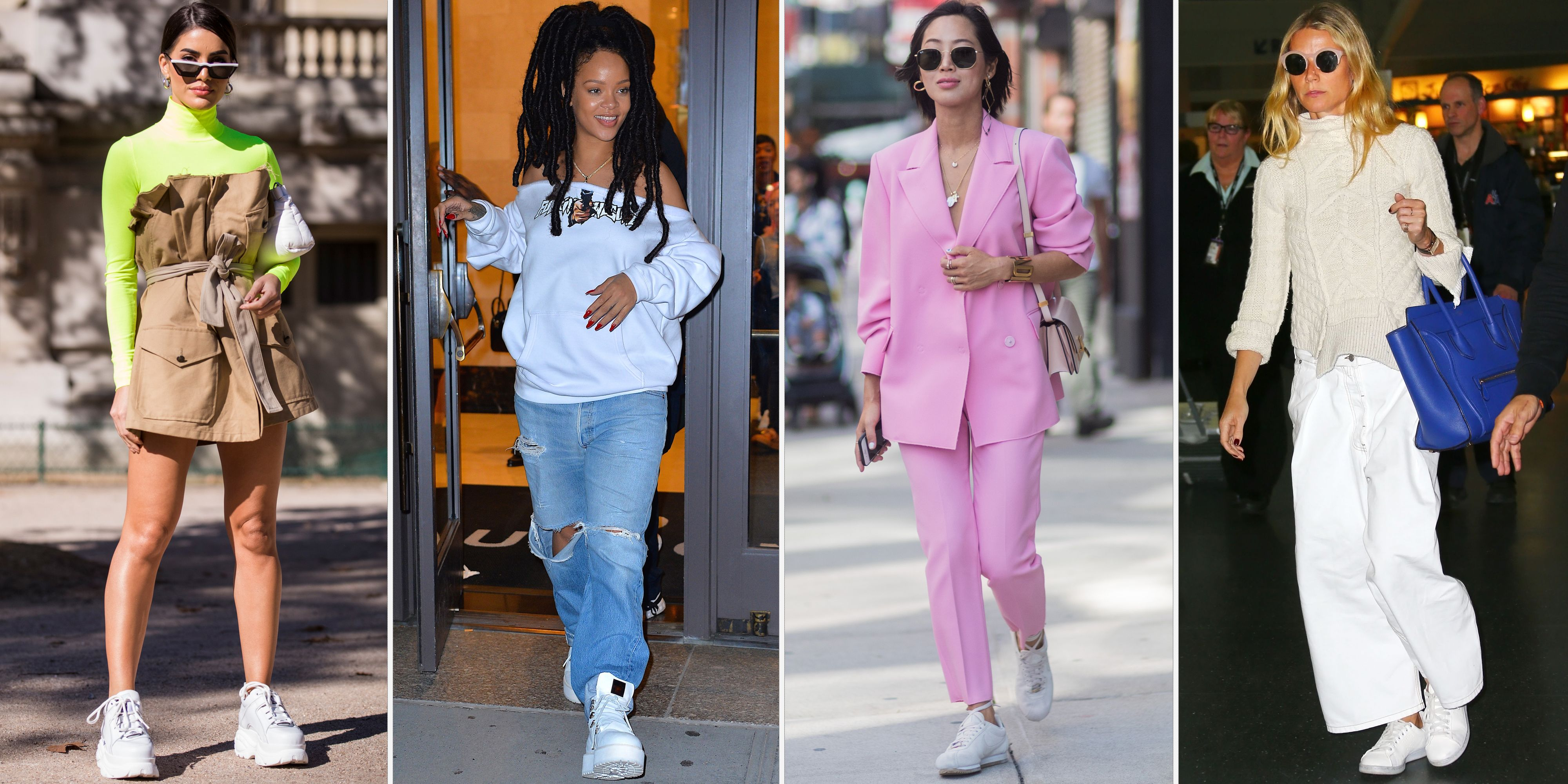 93817e3960 The white sneaker trend is getting an upgrade this summer—just in time to  be paired with all your dresses. From embellishments to perforated leather  to ...