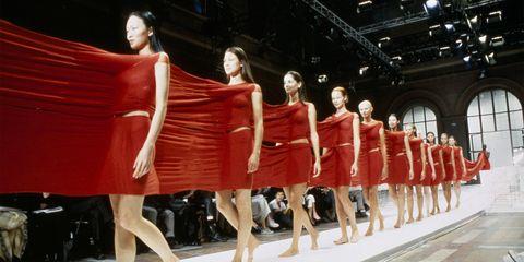 Fashion model, Fashion, Fashion design, Dress, Event, Fashion show, Haute couture, Model, Performance art, Cocktail dress,