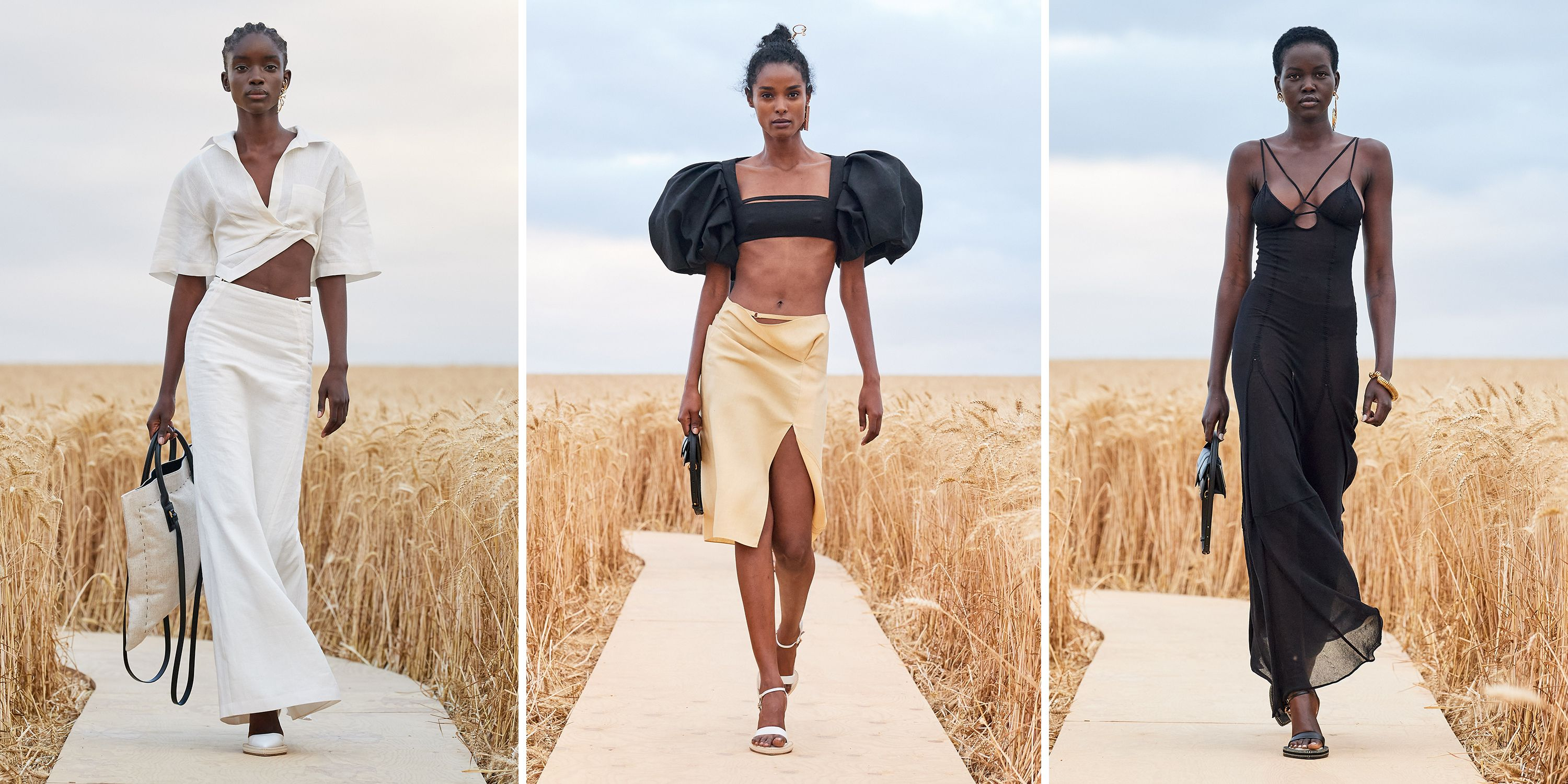 Jacquemus Debuts Spring 2021 Collection In Fields Of Gold