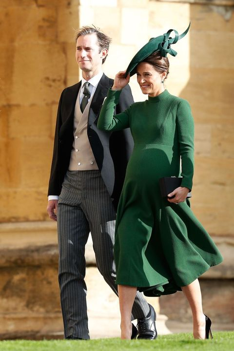 0015a489e Pippa Middleton Arrived 9 Months Pregnant to Princess Eugenie's Wedding