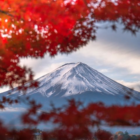 Mount Fuji in the autumn season , Yamanashi , Japan