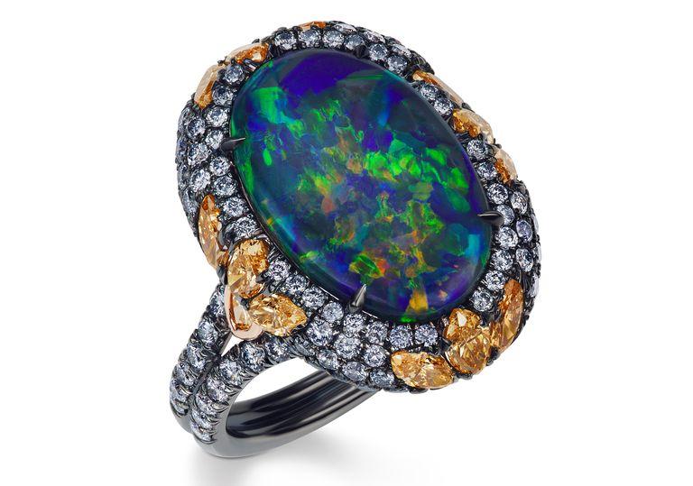 33 Beautiful Opal Engagement Rings