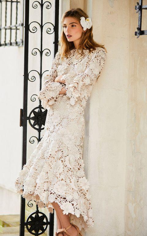 Clothing, Sleeve, Shoulder, Dress, Textile, Style, One-piece garment, Fashion, Day dress, Embellishment,