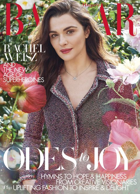 rachel weisz   june issue cover harper's bazaar