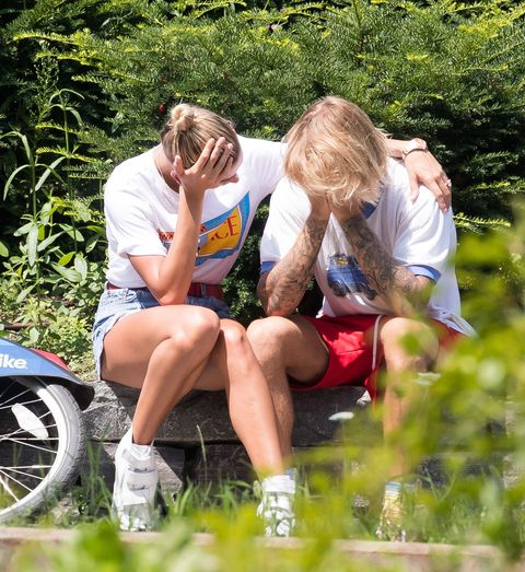 EXCLUSIVE: Justin Bieber visibly upset, Hailey comforts him