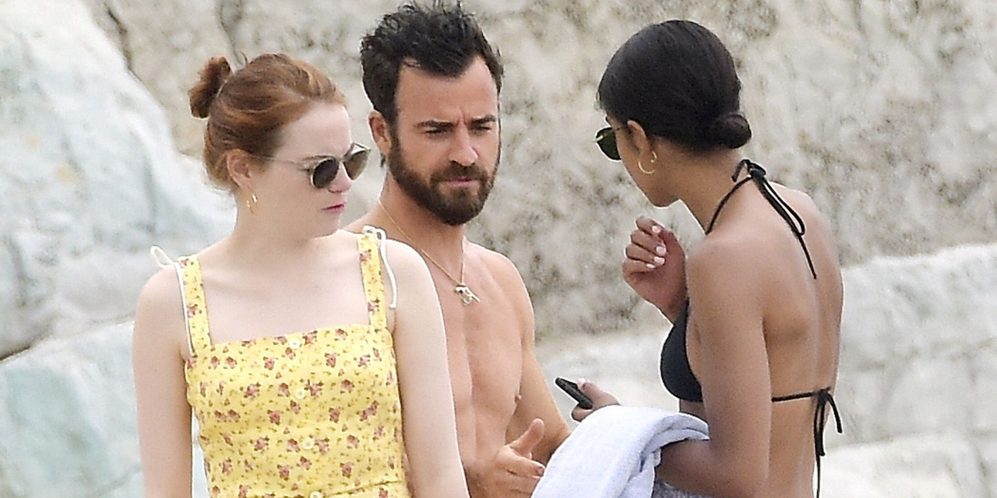 Emma Stone And Justin Theroux Dating Rumors Laura Harrier