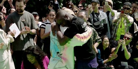 8f4eb0d04d92 Virgil Abloh and Kanye West Cried Together At The End of Abloh s First  Louis Vuitton Men s Show