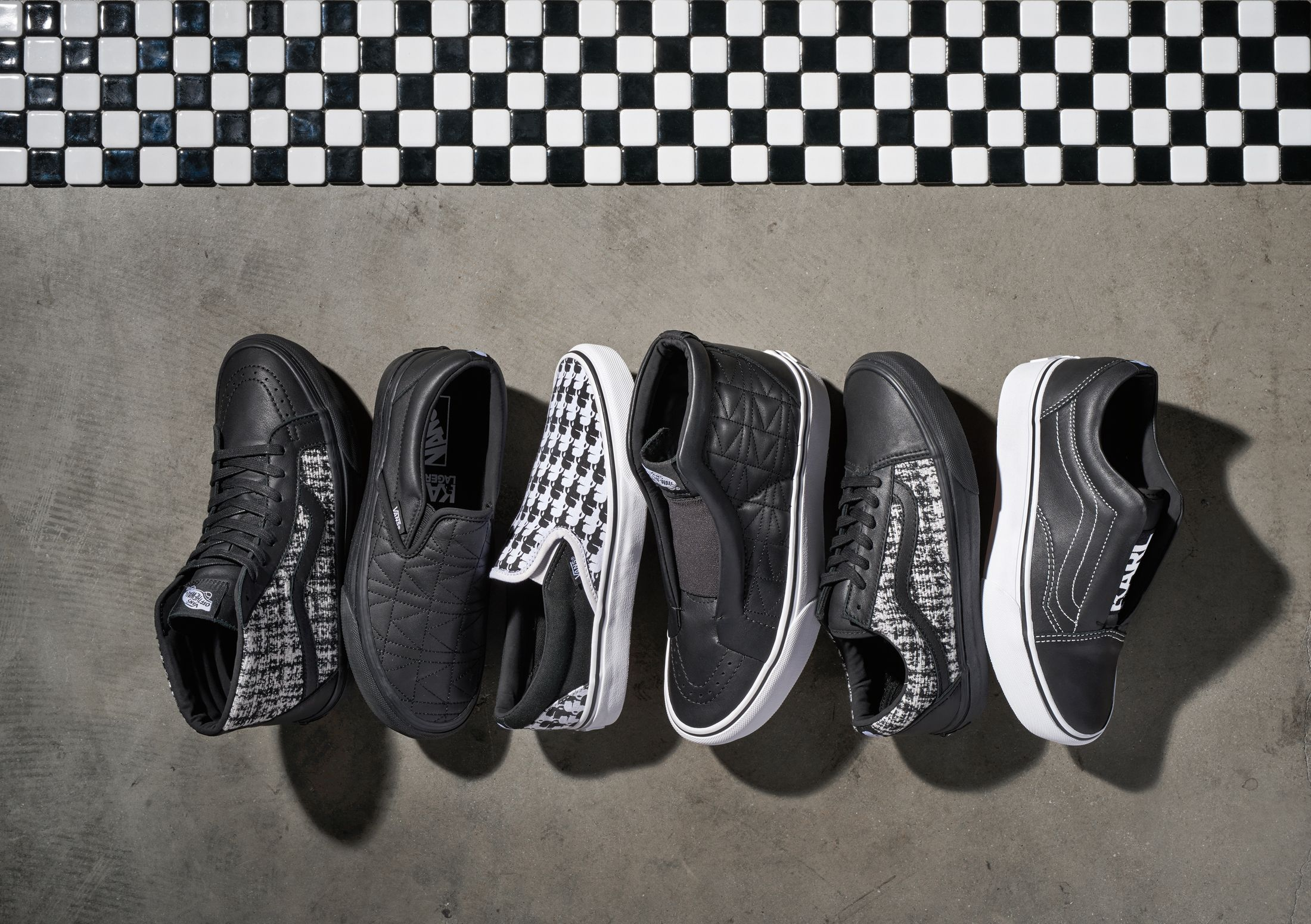 74022a7cc1 First Look at Vans x Karl Lagerfeld Collab - Vans x Karl Lagerfeld  Collection Photos