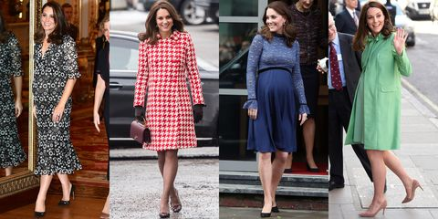 37cd633a6892d Kate Middleton Baby Bump Photos - Kate Middleton Maternity Style ...