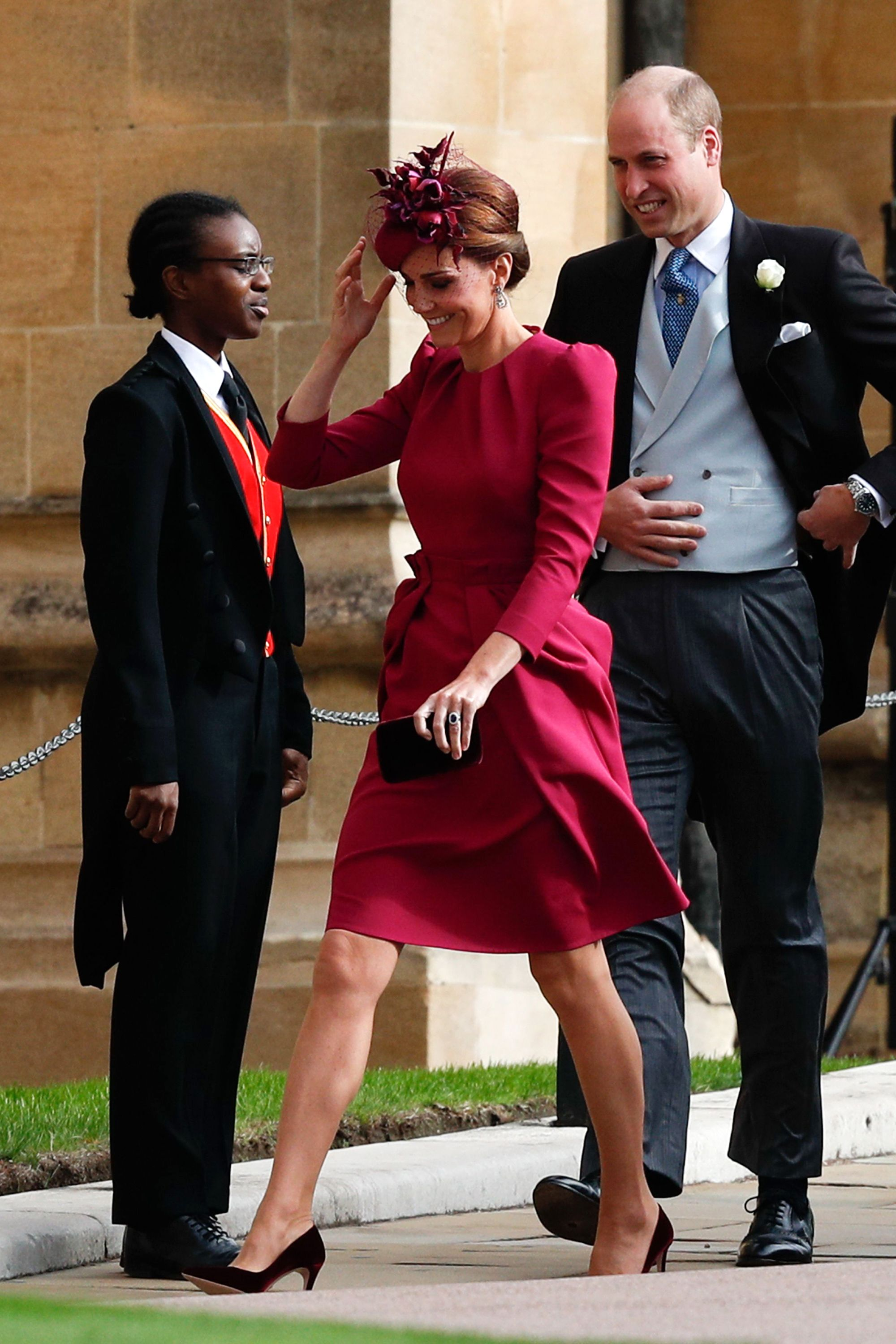 Kate Middleton Goes Bold in Fuchsia Alexander McQueen at Princess Eugenies Wedding