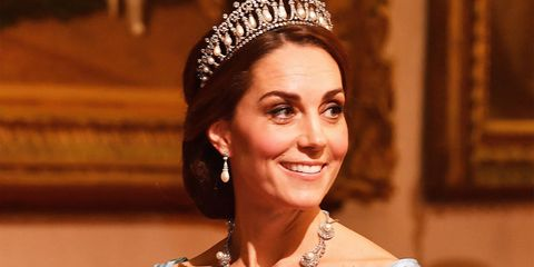 Kate Middleton Wears Queen Alexandra's Diamond and Pearl