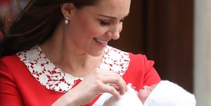 Kate Middleton with new baby