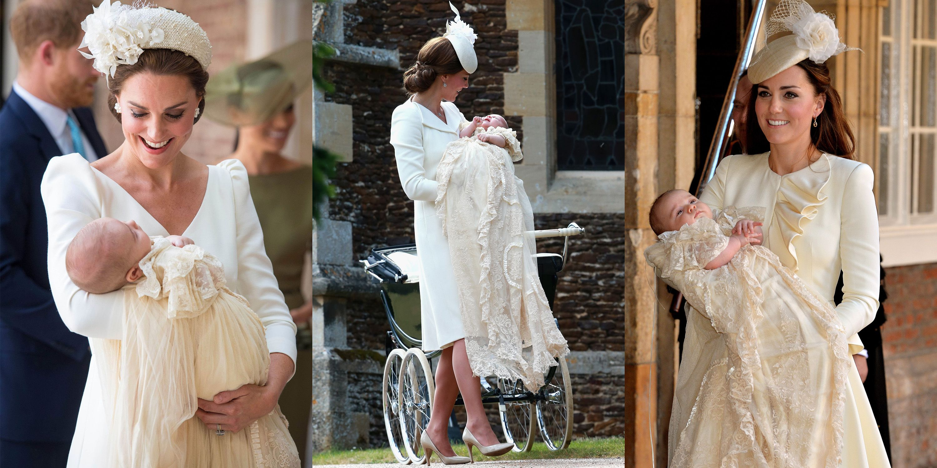 kate middleton s dress for prince louis s christening compared to