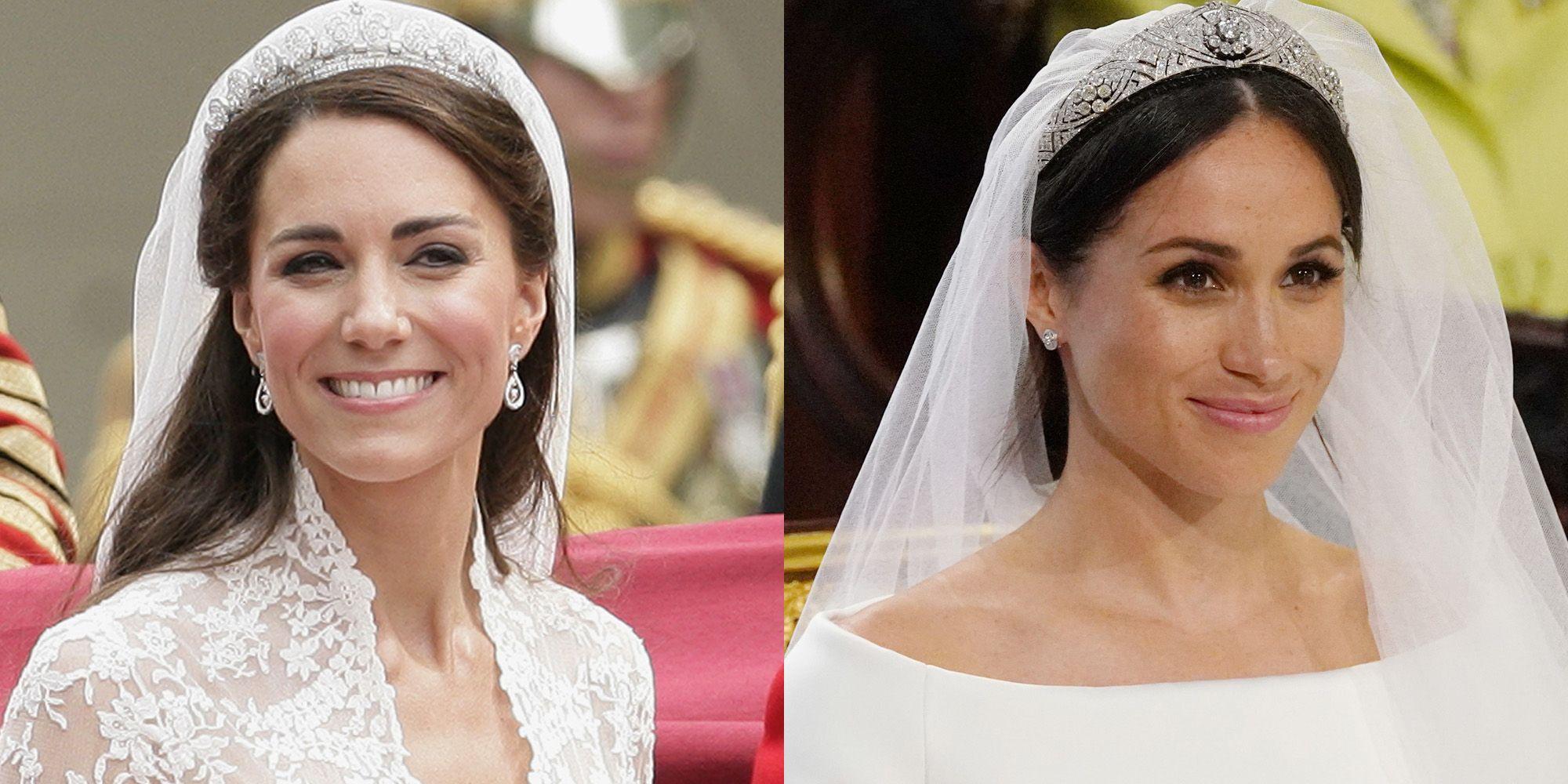 Meghan Markles Royal Wedding Makeup And Kate Middletons Wedding Makeup Compared