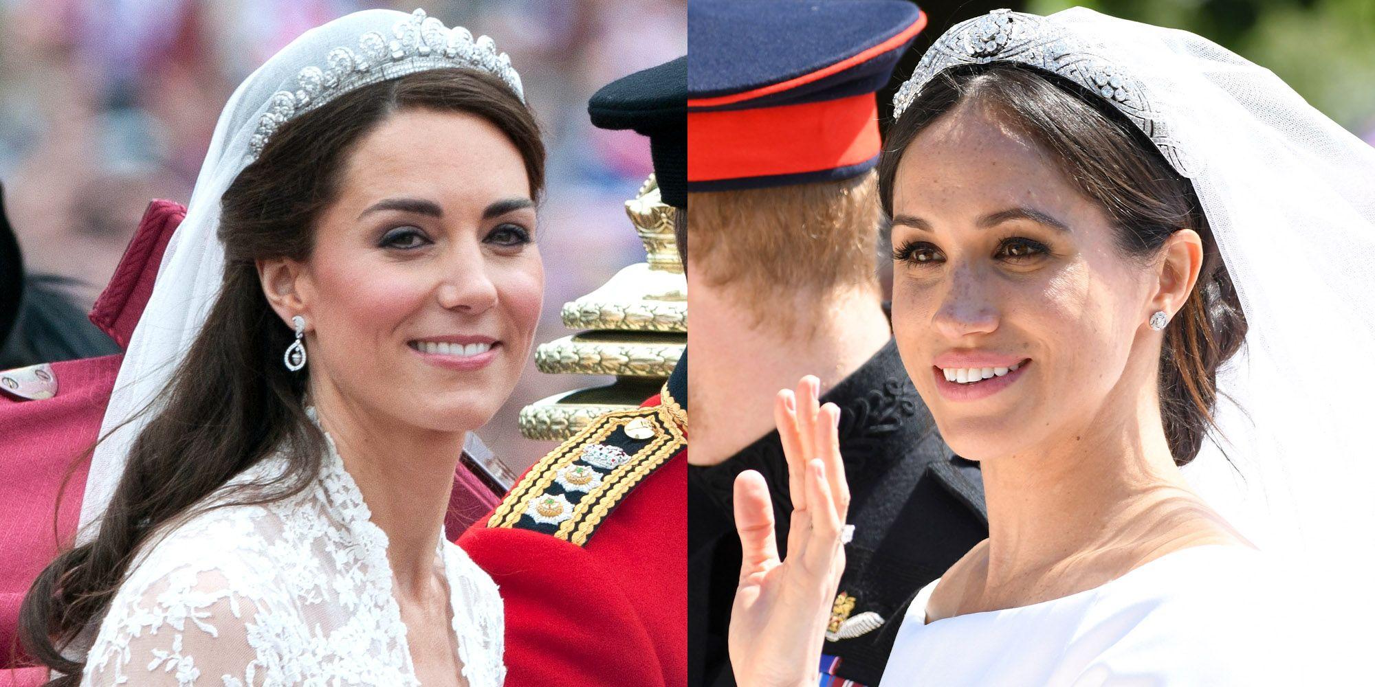 Meghan Markles Royal Wedding Hair And Kate Middletons Wedding Hair