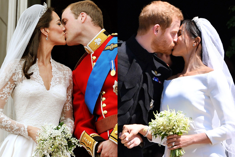 meghan markle kate middleton wedding comparison photos meghan markle kate middleton wedding