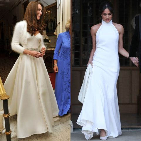 Meghan Markle\'s Second Royal Wedding Dress Compared To Kate Middleton\'s