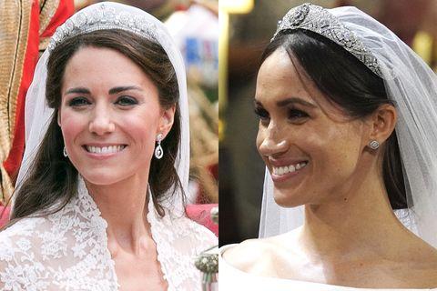 Meghan Markle S Wedding Tiara Compared To Kate Middleton S Tiara