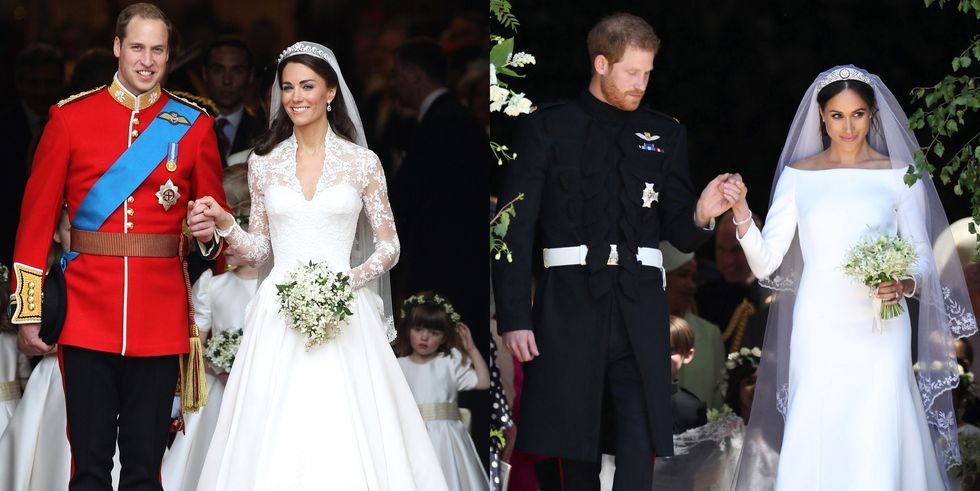 Meghan and Harrys Wedding Compared to Kate and Williams in Photos