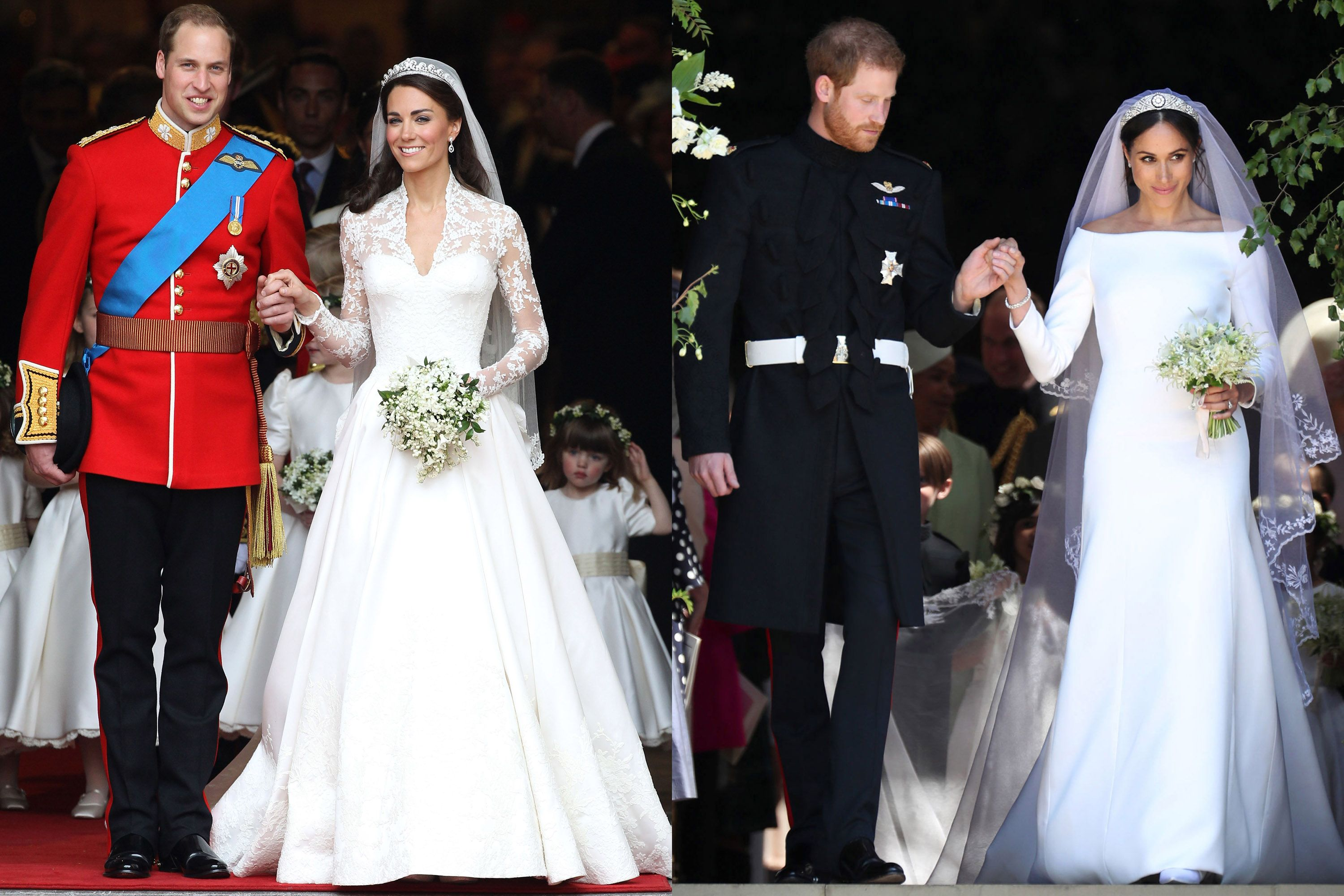 Meghan Markle Prince Harrys Wedding Compared To Kate Middleton
