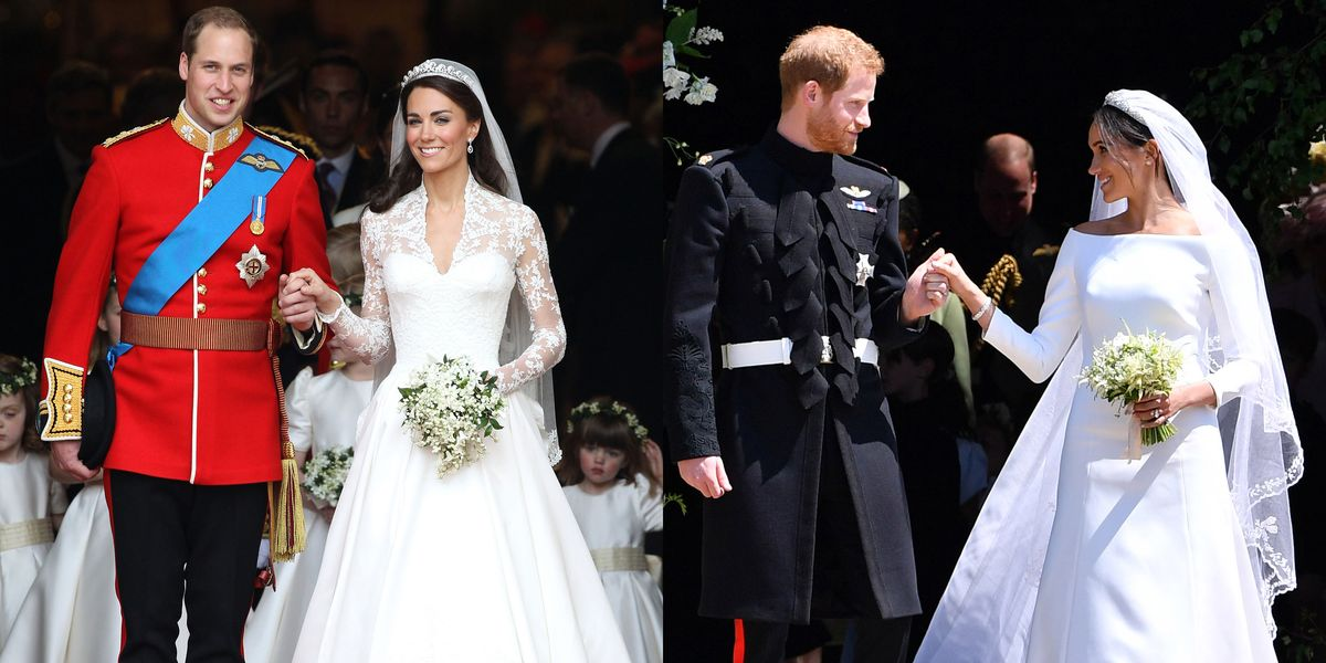 Meghan Markle And Prince Harry S Royal Wedding Ceremony Compared To Kate Middleton And Prince William S