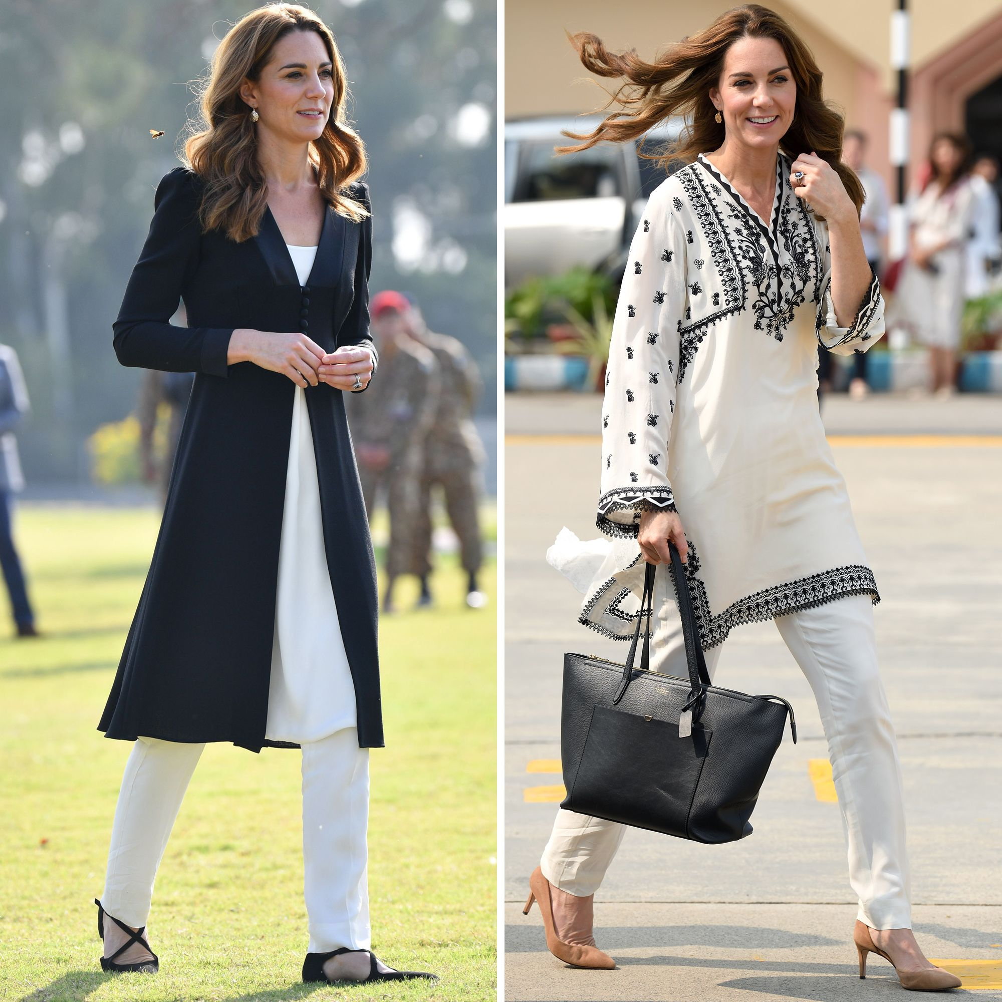 Kate Middleton Wears Two Black and White Looks for Her Last Day in Pakistan