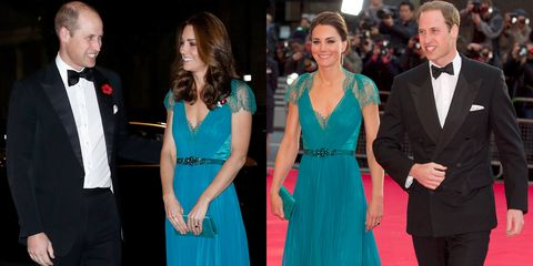 Kate Middleton Wears A Teal Jenny Packham Gown To The Tusk Conservation Awards