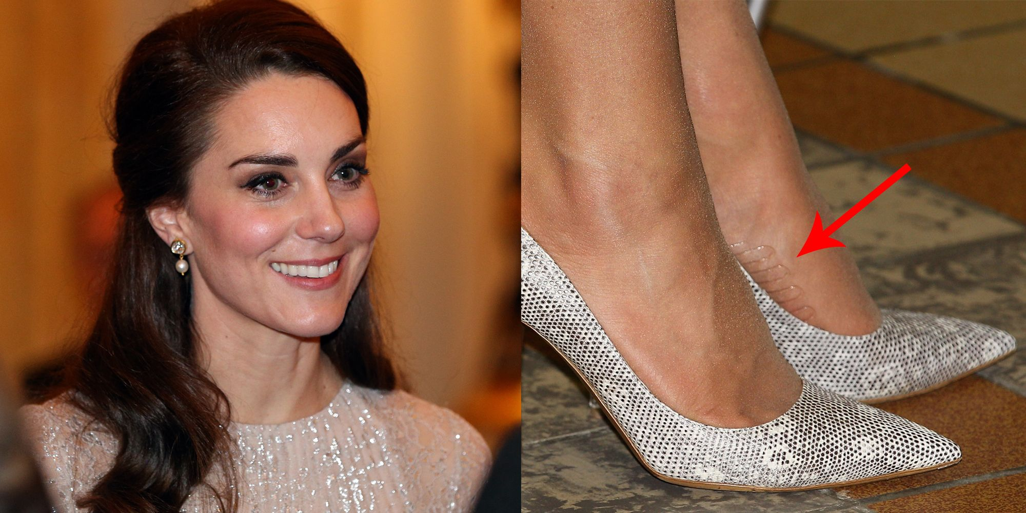 fc9c40d972f79 Kate Middleton Has a Genius Hack To Keep Her Shoes and Tights from Slipping