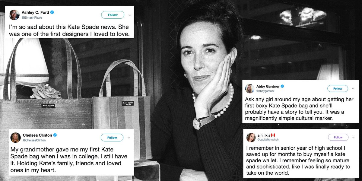 Women Share Tweets About First Kate Spade Bag Kate Spade Tributes On Twitter
