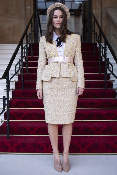 Keira Knightley Received Her OBE from Prince Charles in the Chicest Chanel Skirt Suit