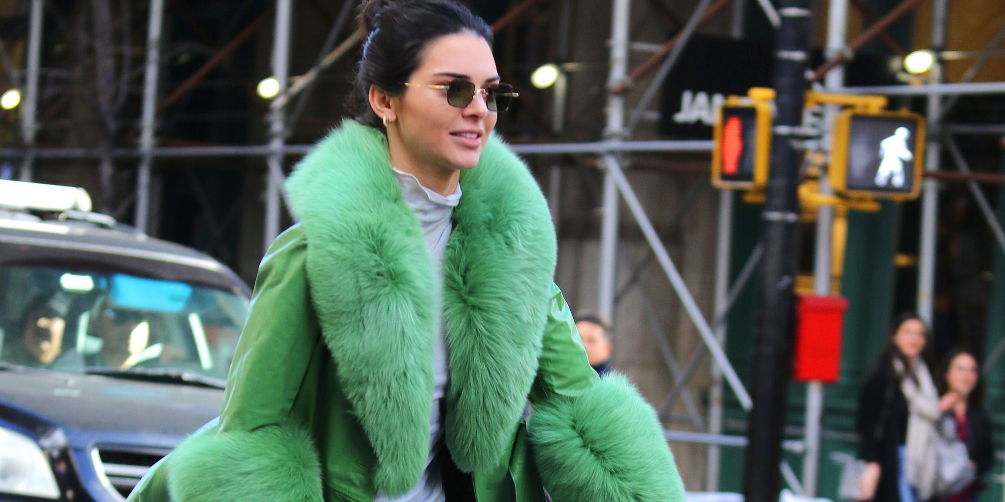 Kendall Jenner goes on a CitiBike ride on her 23th Birthday in New York City.