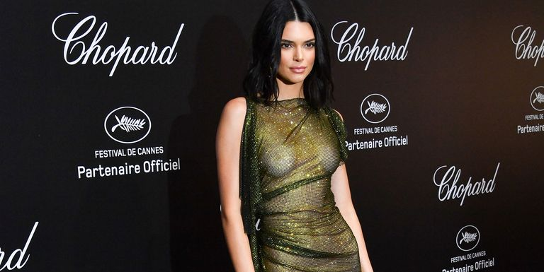 3b026b32 Kendall Jenner doesn't bat an eye when it comes to nearly-nude dressing.  This is the model who wore a barely-there crystal-covered dress exposing  her lace ...