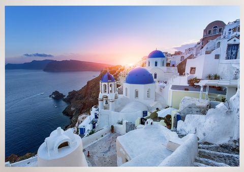 Coastal and oceanic landforms, Coast, Real estate, Azure, House, Sea, Home, Promontory, Evening, Dusk,