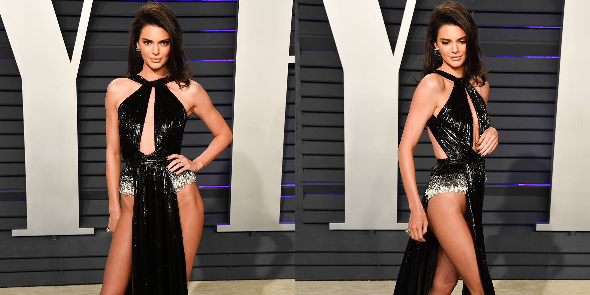 793c8ebafb Kendall Jenner Wears Naked Dress to Oscars 2019 After Party