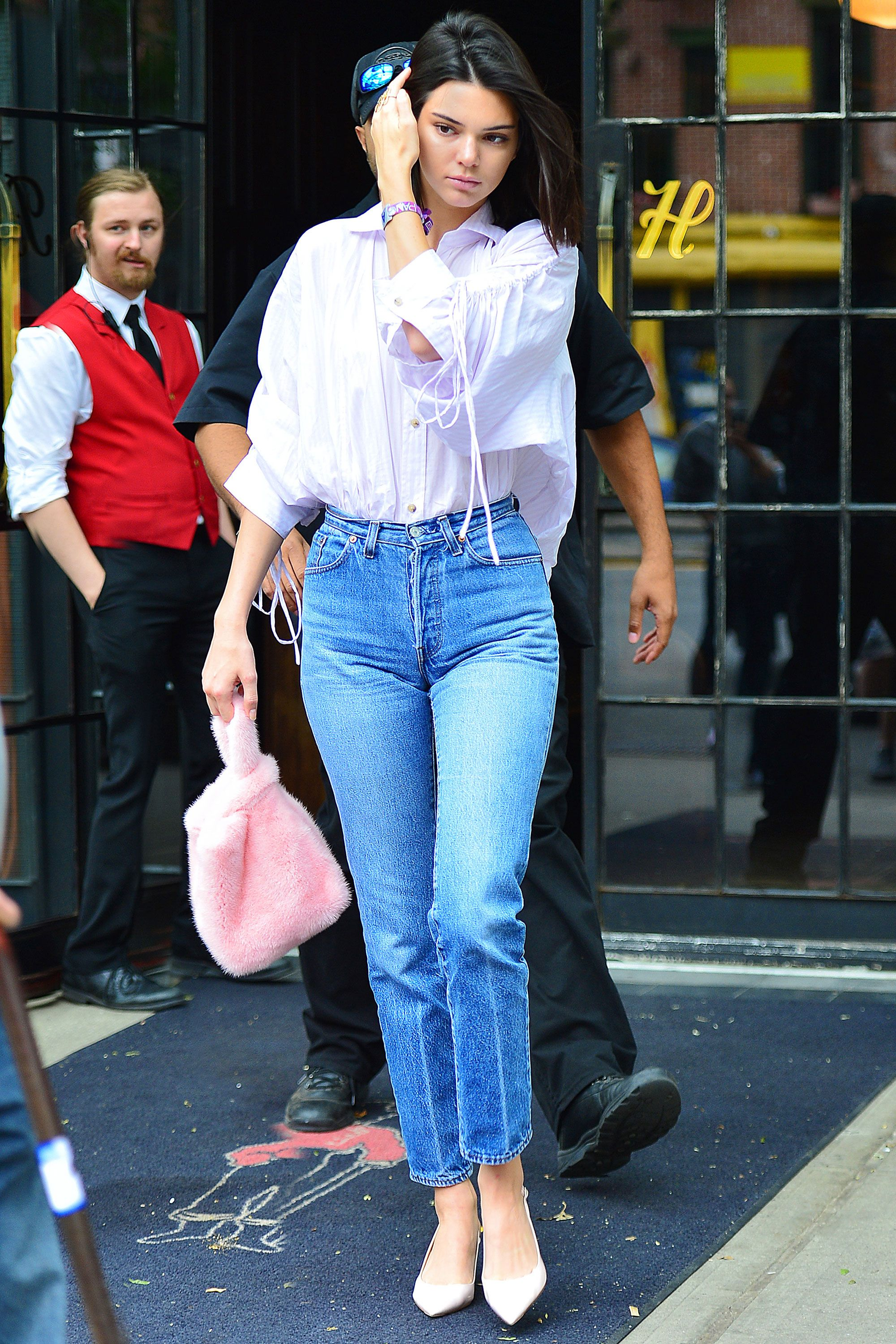 Image result for straight leg jeans 2018 street style