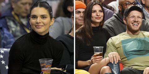 e13245411429 Kendall Jenner and Emily Ratajkowski Wear Matching Black Turtlenecks ...