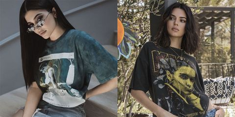 16b7df17fc582 Kendall and Kylie Jenner Tupac and Biggie T-Shirts - Kendall and ...