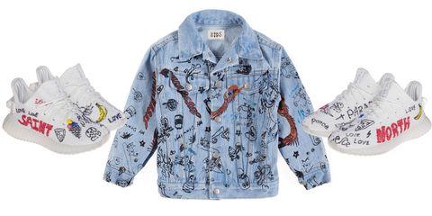 Blue, Product, Sleeve, Textile, Collar, Pattern, Baby & toddler clothing, Street fashion, Design, Sweatshirt,