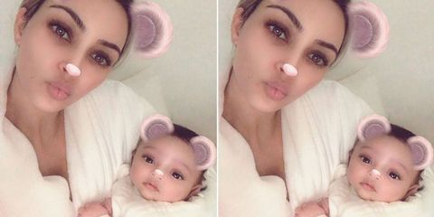 c7480d832d All Chicago West Baby Photos Timeline - Kim Kardashian Daughter Instagram