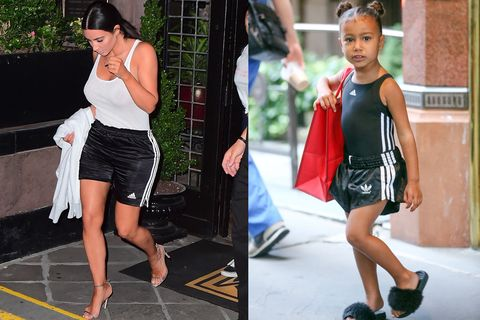 0bed01e7a2f0f Kim Kardashian and North West In Matching Adidas Outfits - Kim ...