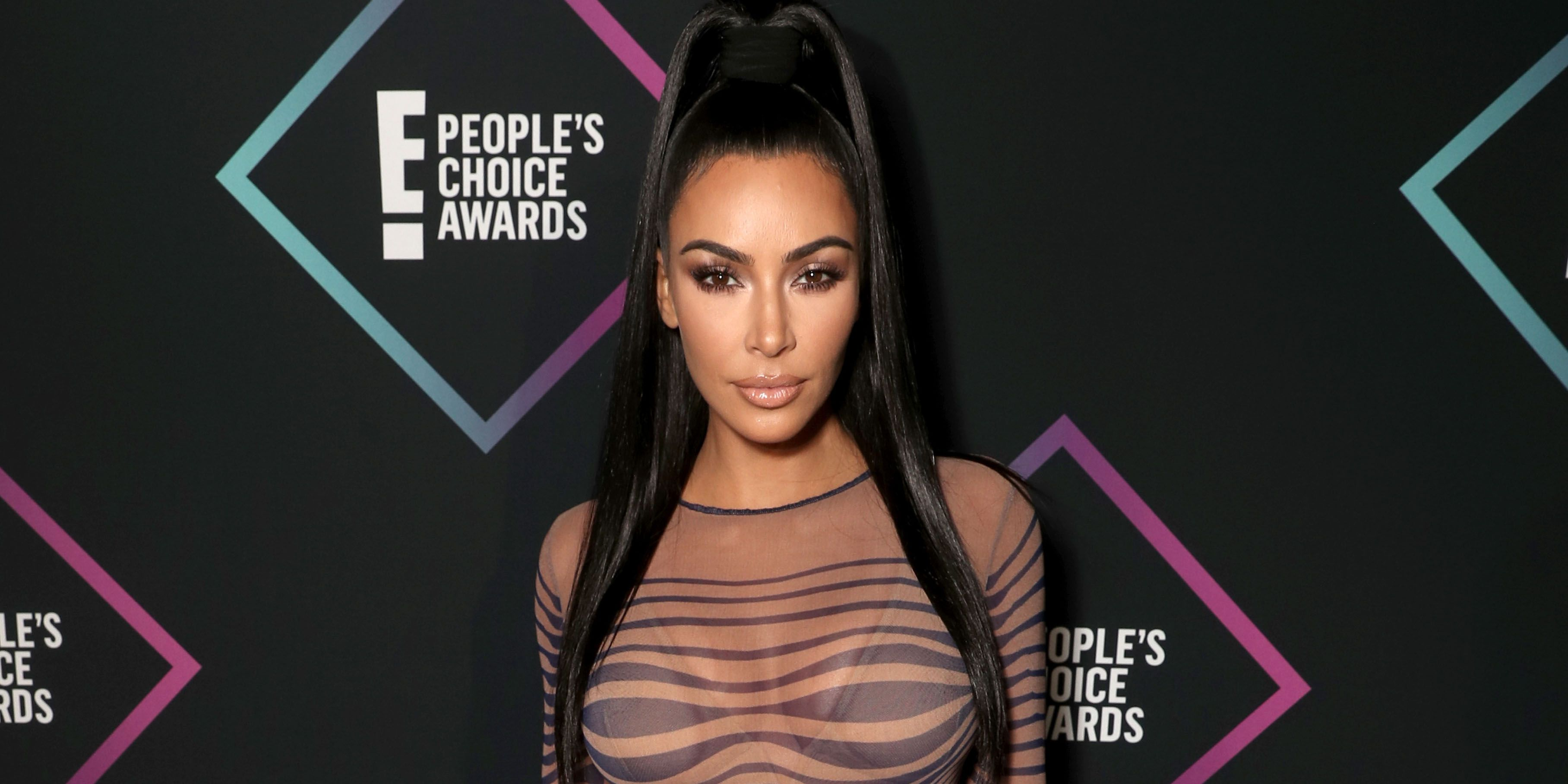 Kim Kardashian Wore A Trippy Vintage Jean Paul Gaultier Dress To The