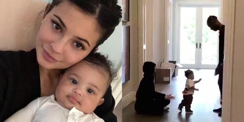 Kylie Jenner and the Kardashian-Jenner Family Greet Stormi